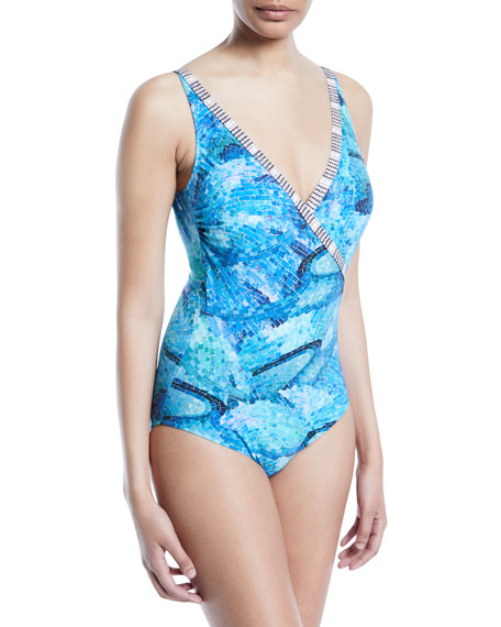 Felicity Surplice One-Piece Swimsuit