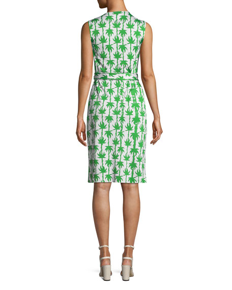 Yahzi Printed Sleeveless Wrap Dress