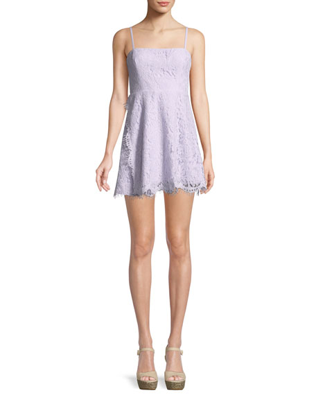 The Fiona Corded Lace Mini Cocktail Dress