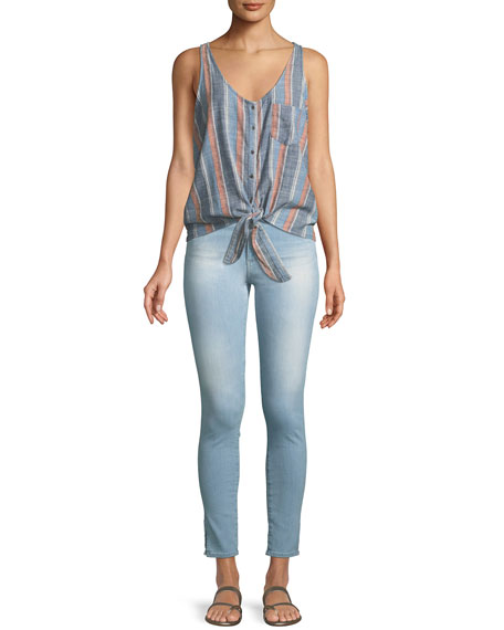 Farrah High-Rise Ankle Skinny Jeans