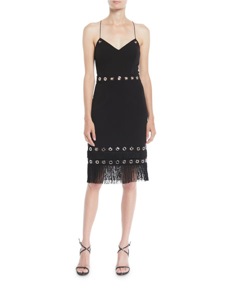 Aidan by Aidan Mattox Crisscross Cocktail Dress w/