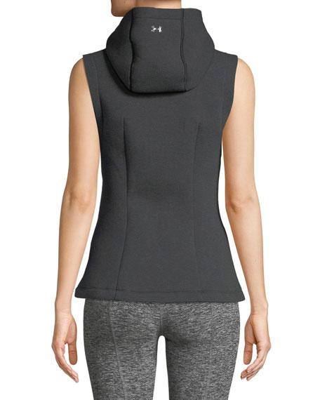 Spacer Hooded Zip-Front Vest