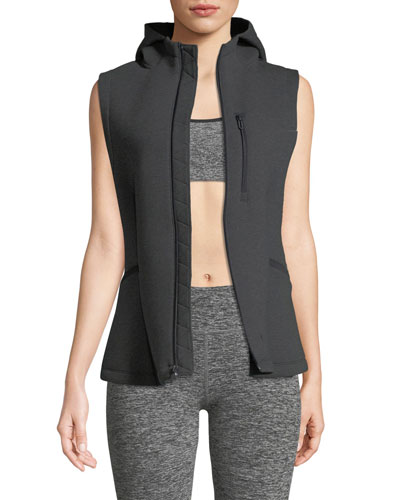 Spacer Hooded Zip-Front Vest