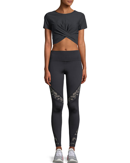 Lace Perforated Performance Leggings
