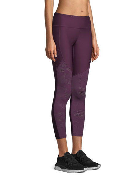 Vanish Cropped Mesh Leggings