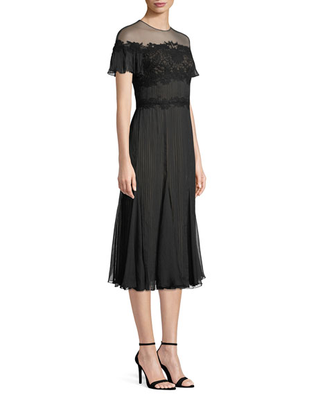 Aditya Crinkle Chiffon Midi Dress
