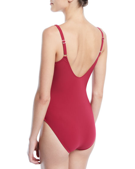 Moto Lace-Up One-Piece Swimsuit