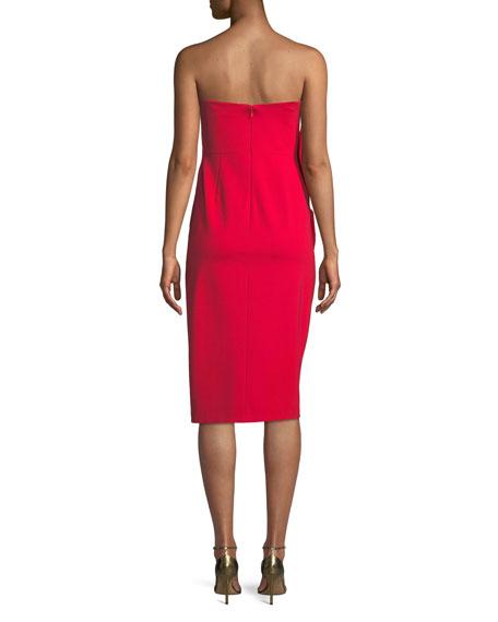 Strapless Midi Dress w/ Side Ruching