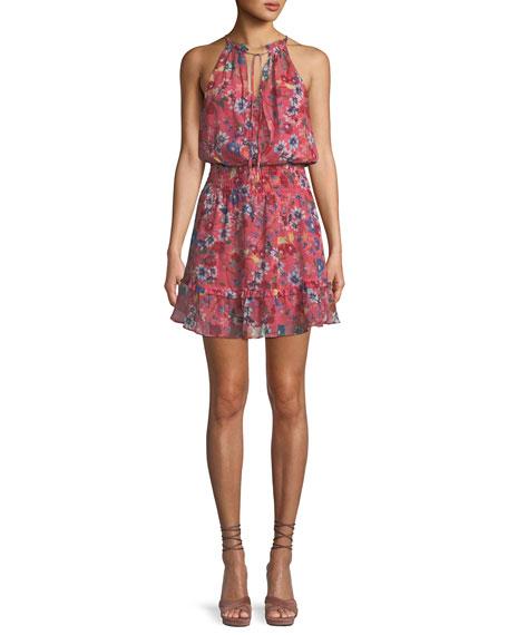 Serenity Floral Silk Mini Dress