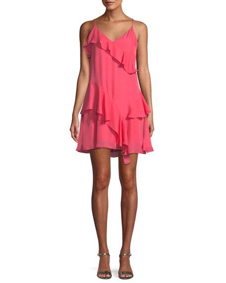 Holly Ruffle Flounce Mini Dress
