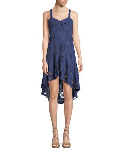 Donna Eyelet Combo Dress