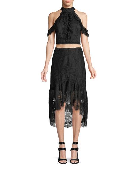 Triss A-Line High-Low Skirt