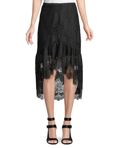 Triss Lace High-Low Mermaid Skirt
