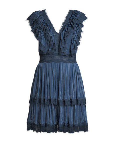 Landora Pleated Tiered Dress