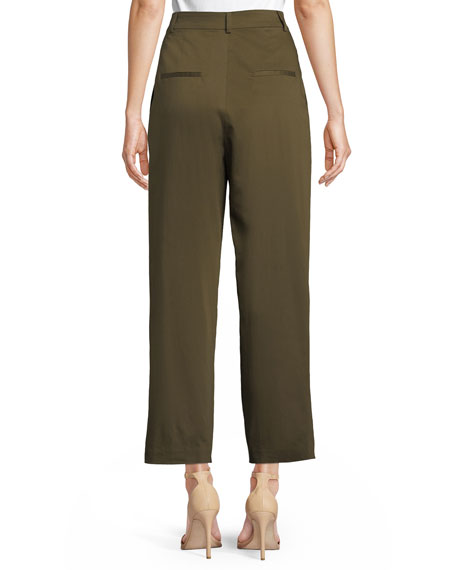 Grady Tapered High-Waist Cropped Pants