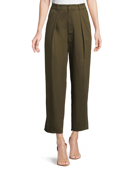 Alice + Olivia Grady Tapered High-Waist Cropped Pants
