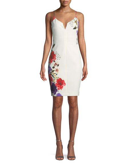 Black Halo Breleigh Floral-Print Sheath Dress