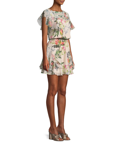 Acadia Floral Combo Mini Dress