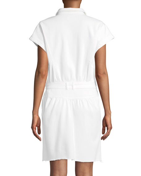Celina Belted Mini Shirtdress