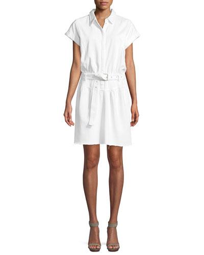Celina Belted Mini Shirtdress