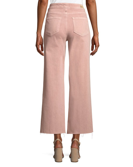 Nellie Tie-Front Denim Culotte Pants