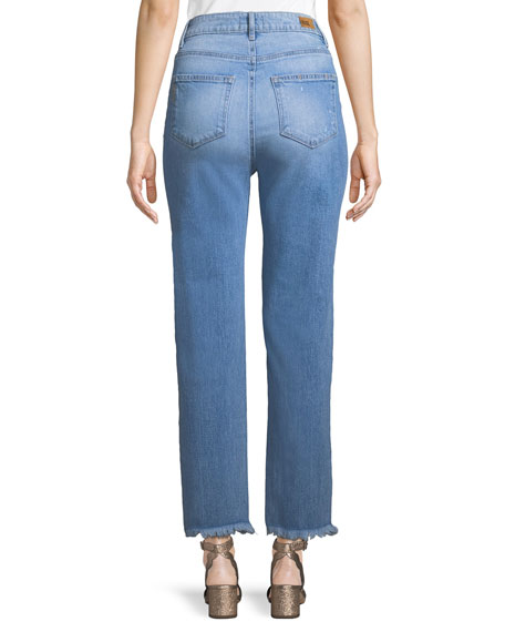 Sarah High-Rise Frayed Jeans