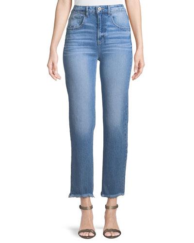 Sarah High-Rise Frayed Jeans