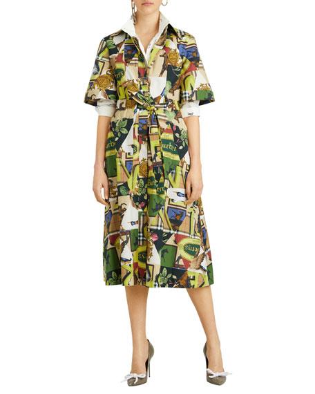 Sanna Printed Midi-Length Tunic Dress