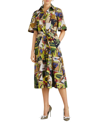 Sanna Printed Midi-Length Tunic Dress