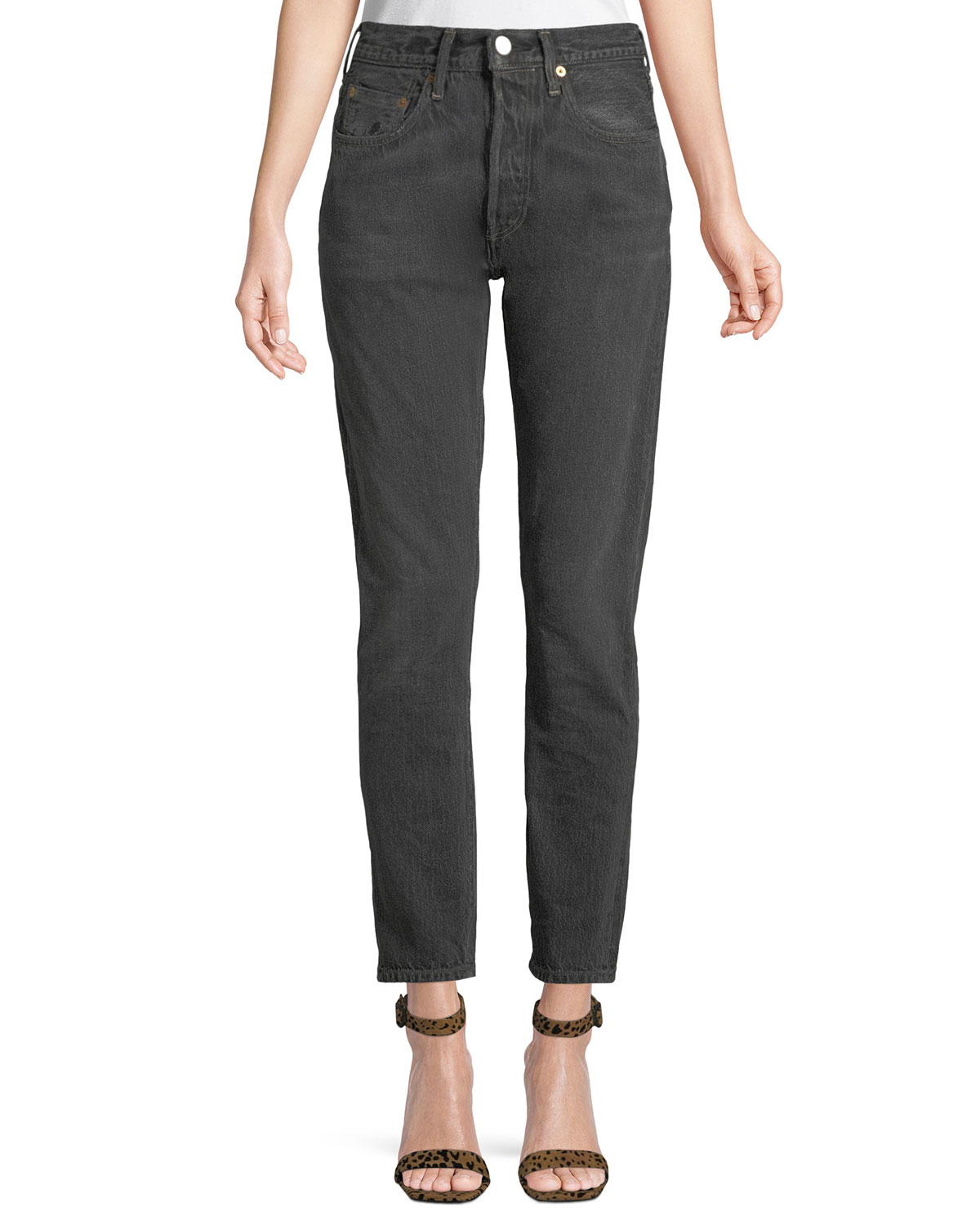 6c06356f25 Levi s Made   Crafted 501 High-Rise Skinny Ankle Jeans