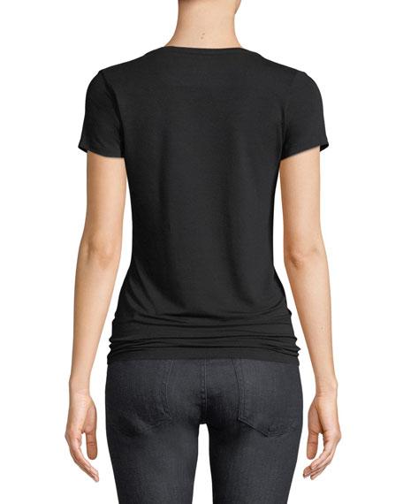 Flat-Edge Soft Touch Short-Sleeve V-Neck T-Shirt