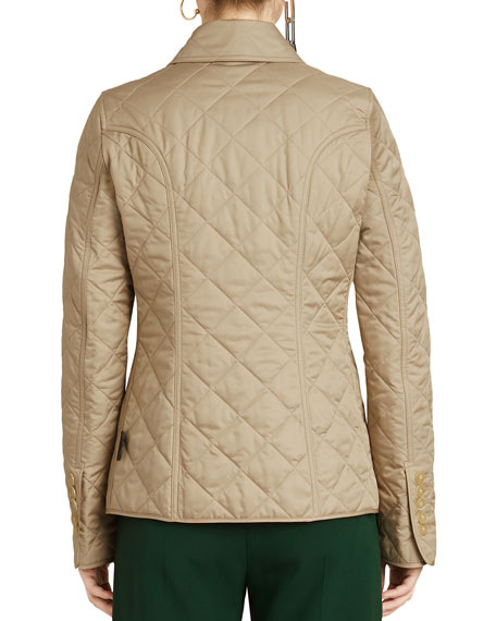 Frankby Diamond Quilted Button-Front Jacket