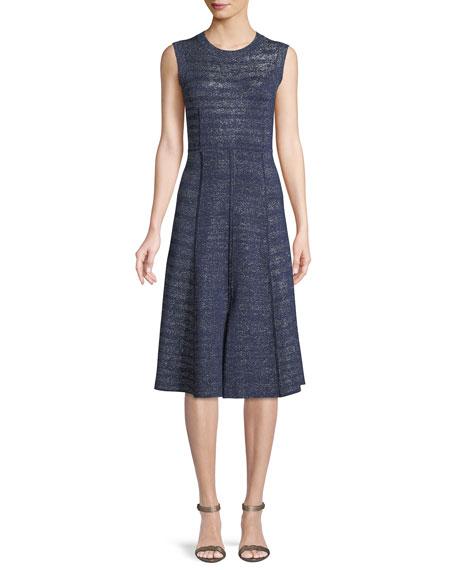 Foley Sleeveless Metallic Midi Dress