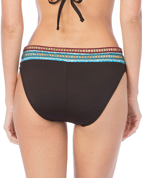 Running Stitch Hipster Bikini Swim Bottoms