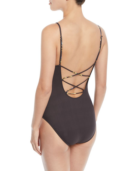 Dirty Martini Printed One-Piece Swimsuit
