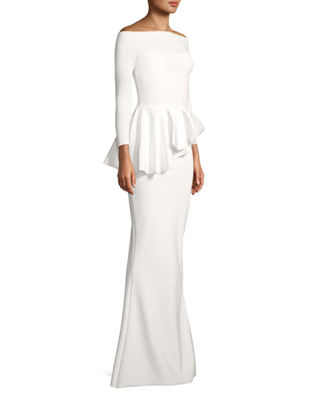 Nabelle Mermaid Jersey Peplum Gown
