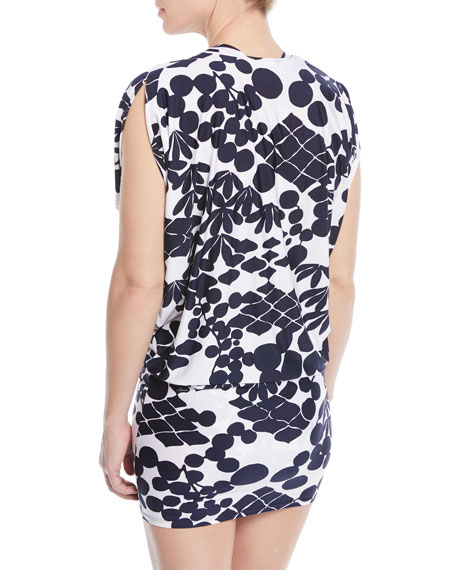 Bali Blossoms Printed Coverup Tunic
