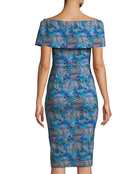 Egida Off-the-Shoulder Fold-Over Dress