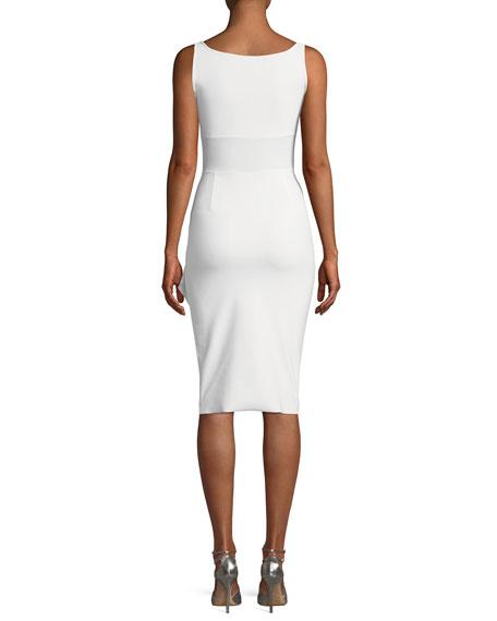 Kloty Asymmetric Ruffle Cocktail Dress
