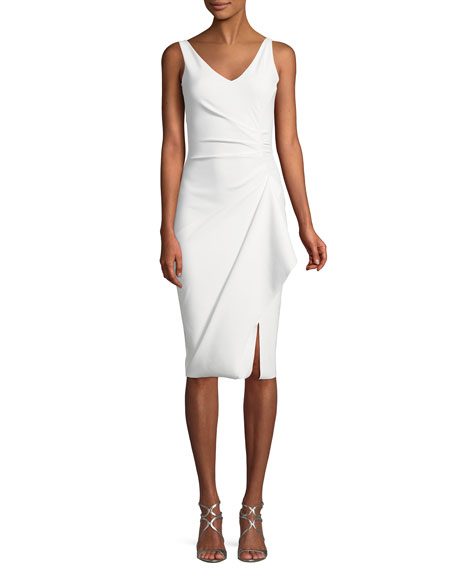 Kloty Asymmetric Ruffle Cocktail Dress