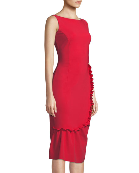 Tera Shirred Sleeveless Cocktail Dress