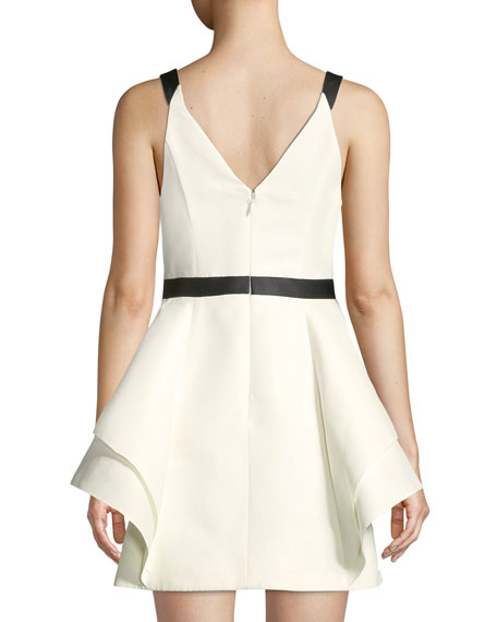Sleeveless Mini Dress w/ Dramatic Skirt