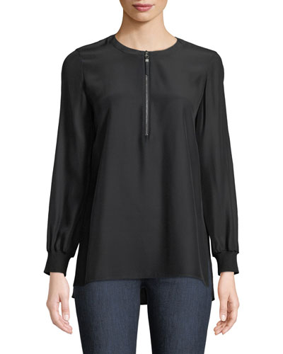 Fantasia Matte Silk Blouse, Plus Size