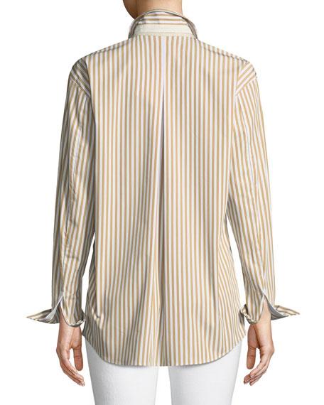 Sabira Saxony Striped Blouse, Plus Size