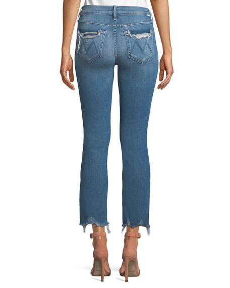 The Rascal Distressed Ankle Skinny Jeans