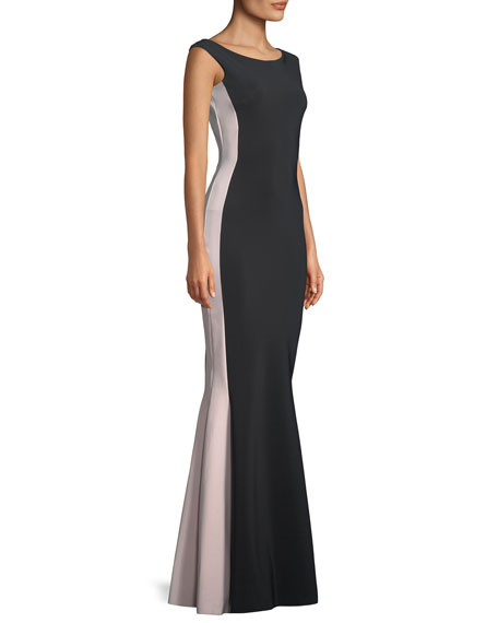 Okana Colorblock Mermaid Gown