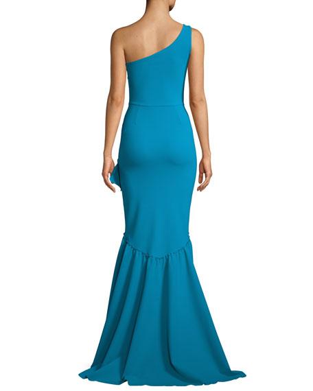 Valeriana Asymmetric Ruffle High-Low Gown