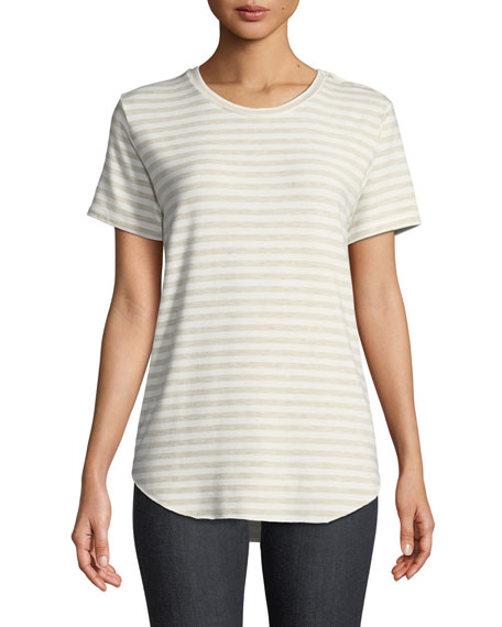 Majestic Paris for Neiman Marcus Asymmetric Cotton Tee