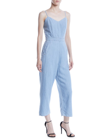 Cut It Out Sleeveless Cropped Jumpsuit
