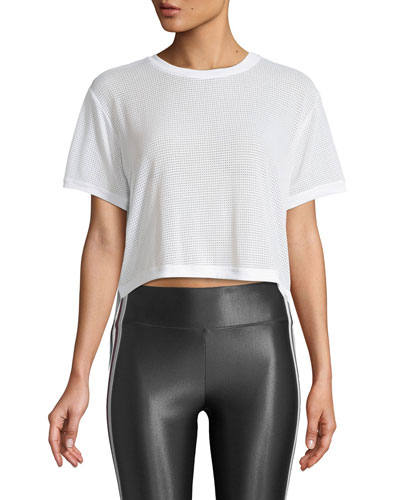 Cruppo Mesh Short-Sleeve Crop Top